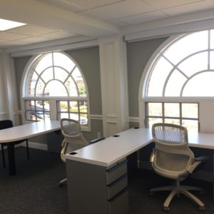 Shared office desks